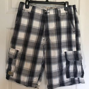 Levi's Blue Plaid Cargo Shorts-Size 32